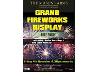 the mason's FREE annual grand fire works display