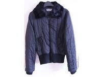 Black Women's Winter Jacket Coat Size Large (UK12) - Immaculate condition