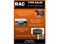 RAC tyre sales and car wash