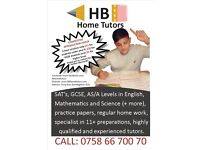 HB HOME TUTORS - Primary, 11+, SAT's, GCSE, AS/A Levels, English, Maths, Science, Tution, Birmingham