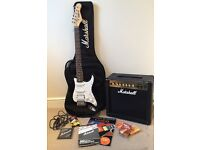 Marshall Rocket Deluxe Electric Guitar Set. Excellent condition as only used a few times