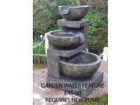 Garden Water Feature requires new water pump