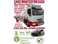 Cars wanted for CASH! Transportation & Scrap