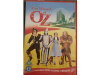 WIZARD OF OZ dvd Sing-Along- Edition, new & sealed £3