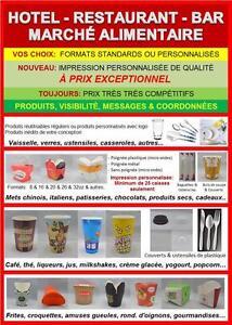 Promotion marque - Design produits - Boites et Contenants alimentaires - Restaurants - Hotels