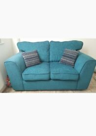Teal 2 Seater Sofa + cushions!