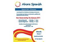 Spanish Adult Courses (Beginners & General) in Peacehaven