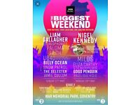 2x Radio big weekend Coventry