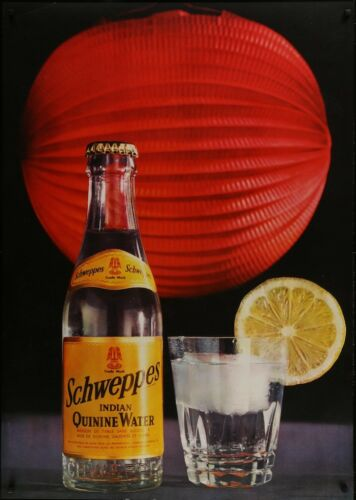 SCHWEPPES Vintage 1967 Swiss advertising poster 36x51 RARE NM