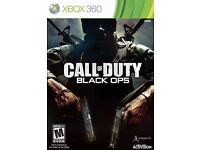 WANTED!! call of duty black ops 1 and 2 for xbox 360