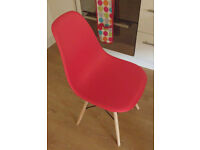 NEW Red Eames Style Chair £25 - in Original Packaging - collect from SW18 Wandsworth