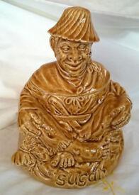 vintage sadler pottery sugar jar
