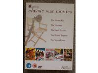 CLASSIC WAR MOVIES 5 DVD box set