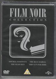 Film Noir Collection DVD Box Set 4x DVD This Gun for Hire Double Indemnity Glass Key Blue Dahlia