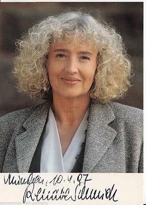 Renate Schmidt SPD TOP AK 90er Jahre Orig. Sign.  +7450