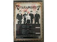 Signed Paramore A4 Framed Tour Poster