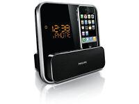 Philips DC315/05 iPhone / iPod Docking Station Alarm Clock Radio - Black