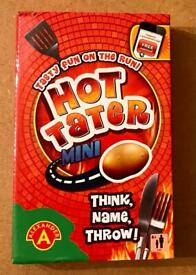MINI HOT TATER TRAVEL GAME. THINK, NAME, THROW. VGC.