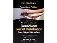 Leaflet Distribution: Croydon, South London, Bromley, New Addignton, Sout Norwood, Streatham,