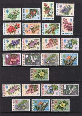 Bermuda 1970 & 1975 Complete Sets - OG MH-SC# 255-71, 322-28 Cats $87.30