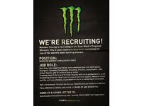Monster Energy Ambassador - Part Time - Events & Sampling