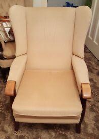 Wing back fireside chair