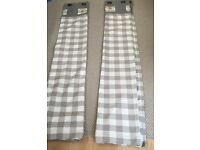 Curtains - Grey Gingham with Heart style