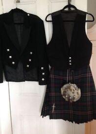 Kilt, jacket, waistcoat etc