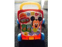 First Steps Walker & Musical Car Baby Walker