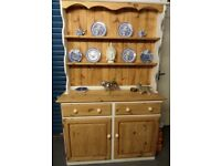 Beautiful Reclaimed Shabby Chic Pine Welsh Dresser Kitchen Dining - UK Delivery