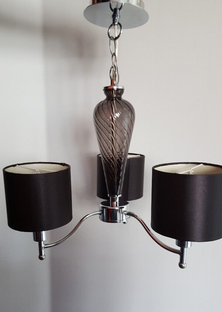 Dunelm Mill Ceiling Light 3 Pendant Black In Dunfermline Fife Gumtree
