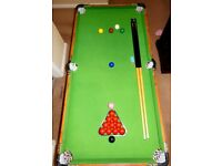 JUNIOR SNOOKER/POOL TABLE