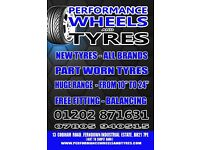 COMMERCIAL NEW AND PART WORN TYRES - LARGE SELECTION