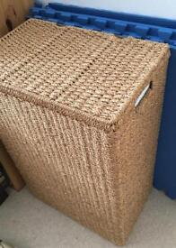 Seagrass Linen Laundry Basket