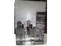 Lovely Black & White New York Night Canvas Print 40cmx60cm