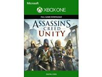 Assassin's Creed unity full game key xbox instant