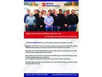 24 British Maintenance, gas engineer, boiler installation , repair, safety check, cooker, hob