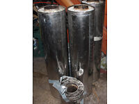 Chimney Flue - 3 long lengths, 1 short piece and brackets
