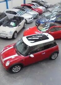 2005 MINI COOPER RED/WHITE 1 LADY OWNER FROM NEW BEFORE ME