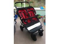 Mountain Buggy Duet With Carrycot Option Double Pushchair