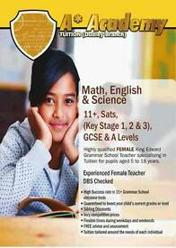 Maths, English & Science Tuition