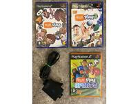 PlayStation 2 camera and games. Eye toy