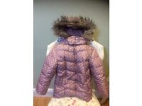 Gorgeous girls Bluezoo padded & fleece lined coat! Age 4-5 yrs. Hardly worn, immaculate!