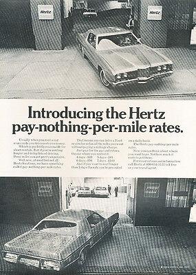 1972 Ford Hertz Car Rental Garage    Classic Vintage Advertisement Ad H84