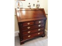 High Quality Hardwood Writing Bureau in Excellent Condition