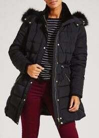New ladies black coat, size 12
