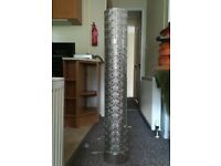 Crystal floor lamp with beads