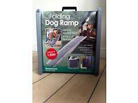 Dog Pet Ramp Folding Plastic Lightweight Bi Fold Strong Travel Transport Car Van