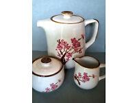 vintage stoneware coffee set