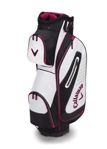 NEW Callaway Cart Bag Capital (Cart Bag, White Black Pink), White/Black/Pink